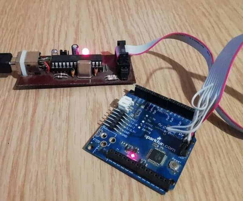 usbasp testing with arduino board