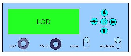 front panel with LCD