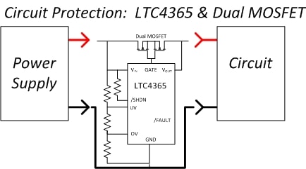 LTC4365 protects the circuit