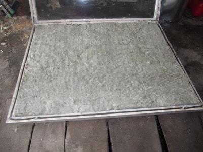 DIY solar collector frame insulator