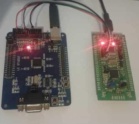 TM32VLDiscovery  program another STM32F103RBT6 board