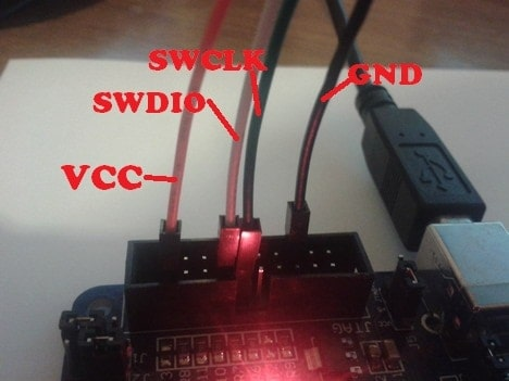 target boards JTAG connector