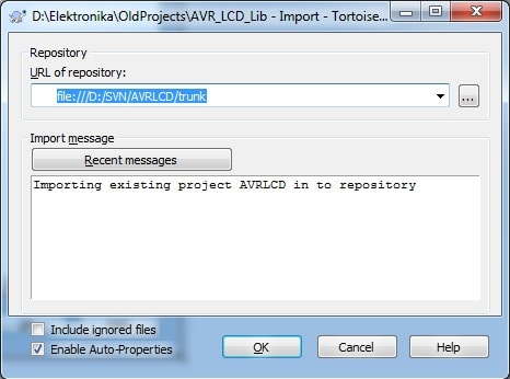 SVN_importing_project