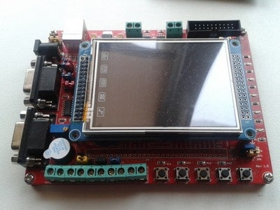 stm32 development board with touvh lcd