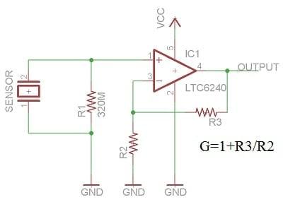 piezo sensor with op-amp