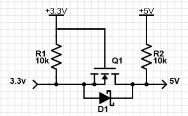 mosfet_based voltage level translator