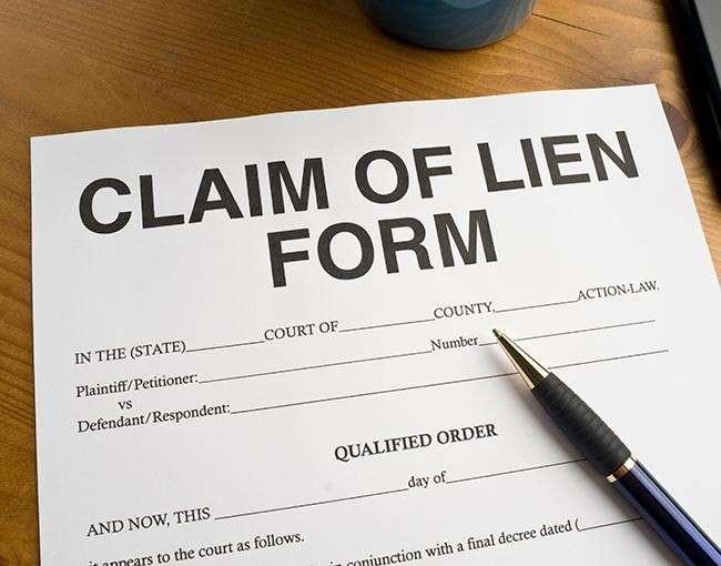 claim of lien form