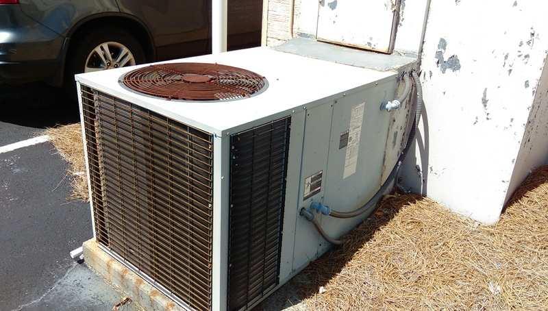 heat pump outside unit