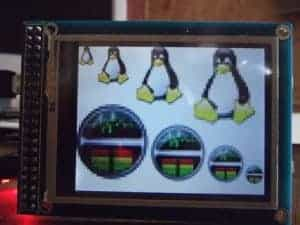 graphical LCD with touch screenon ChipKIT UNO32