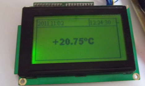 Temperature on GLCD