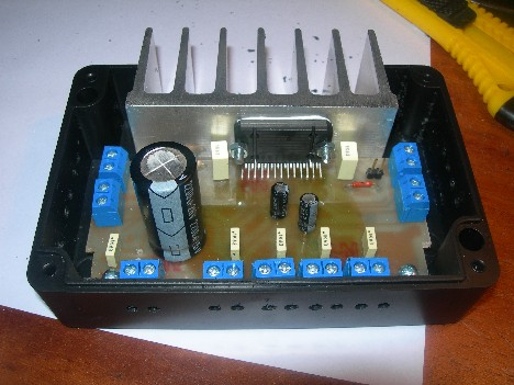 4x22W car audio amplifier based on TDA7384