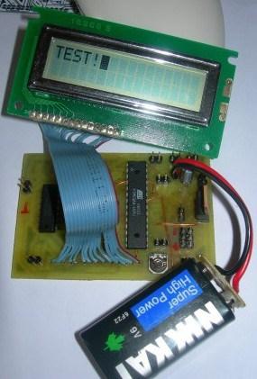 avr dds1 LCD test