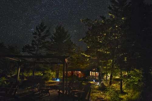 night sky in the camp