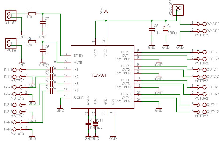 TDA7384 circuit