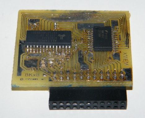 Atmega128 external memory module