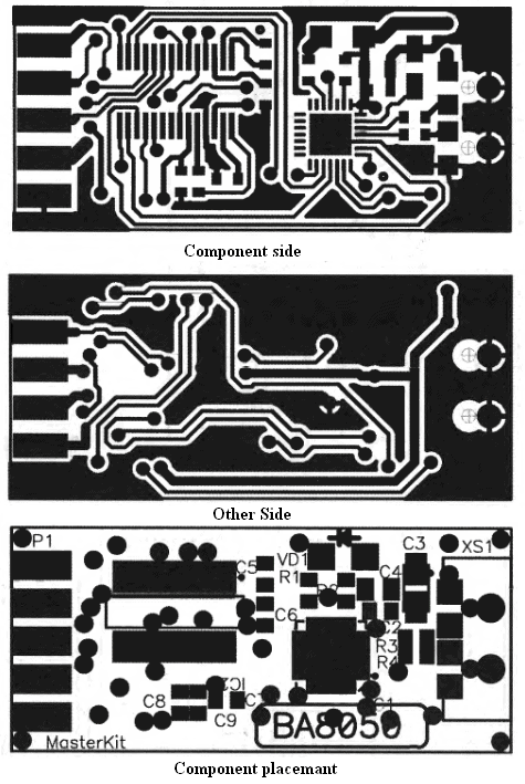 USB to RS232 adapter PCB