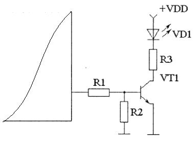 connecting LED to the microcontroller through transistor