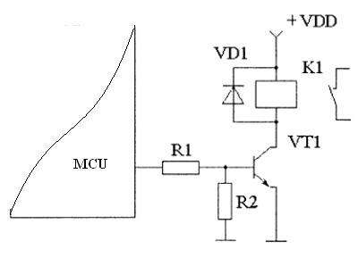 MCU_relay_interface