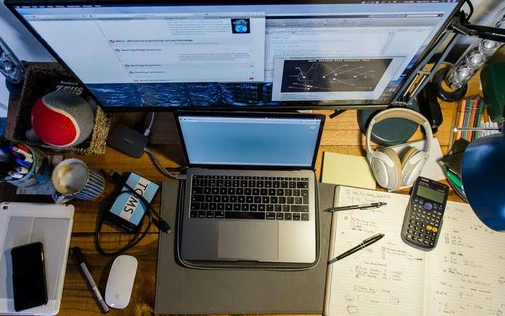 writing setup