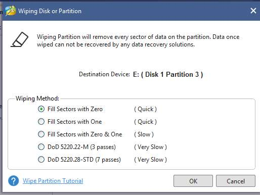 wipe the disk