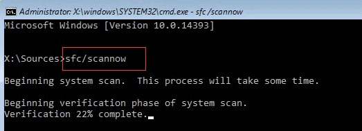 Repair Missing or Corrupted System Files