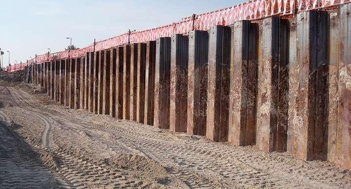 Steel Retaining Wall