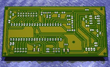 AVR DDS signal generator PCB