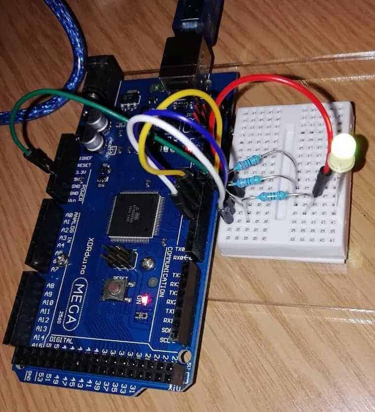 Arduino RGB LED running