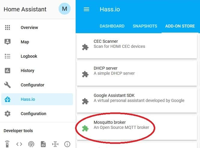 home assistant mosquitto broker