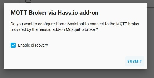MQTT enable discovery in home assistant