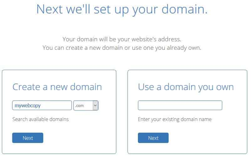 Create new domain name in bluehost