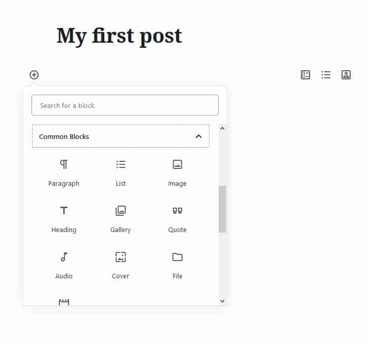 wordpress_create a post